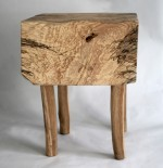 Spalted Ash seat with Sycamore legs